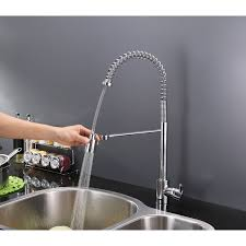 kitchen faucets with soap dispenser ruvati rvf1210ch commercial style pullout spray kitchen faucet
