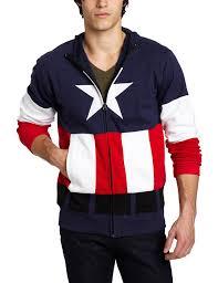 amazon com captain america men u0027s fleece hoodie navy x large