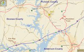Greenville Sc Map Tornadoes Touch Down Near Fair Play And Pendleton South Carolina