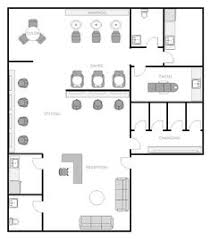 salon floor plan design layout 696 square feet interiors