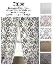 chloe woven curtain drapery panels