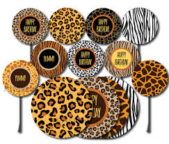 safari cake toppers safari cupcake toppers printable safari cake topper safari