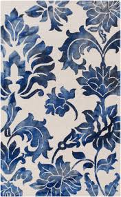 Blue And White Area Rugs Blue And White Floral Rug At Rug Studio