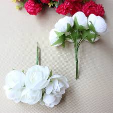bouquets for wedding 3cm artificial flower bouquet ribbon bouquets for diy flower