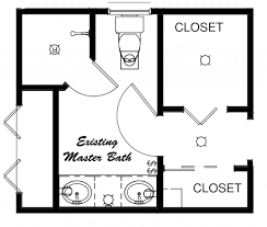 bathroom floor plans with closets modern
