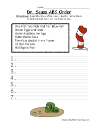 dr seuss printables fun teaching