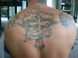winsome memorial tattoo on back tattoo designs tattoo pictures