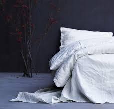 100 linen duvet cover rough linen natural minimalist bedding