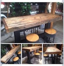 wooden high bar table best 25 round bar table ideas on pinterest deck wood pertaining to
