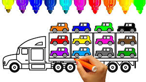 kid car drawing how to draw car carrier truck coloring pages kids learn drawing