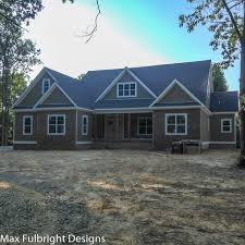 craftsman style lake house plan with walkout basement
