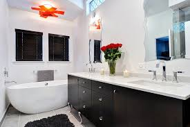 white master bathroom ideas black and white master bath with pops of redjpg black and