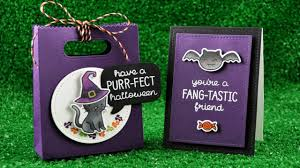 Halloween Candy Bags Craft by Intro To Spooktacular A Goodie Bag And Card From Start To Finish