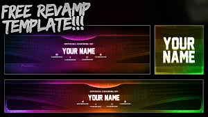 free youtube banner twitter header template psd free download