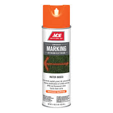 ace 17oz water based marking paint in fluorescent red orange