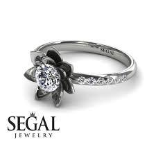 lotus flower engagement ring lotus flower engagement ring 14k white gold 0 5 carat cut