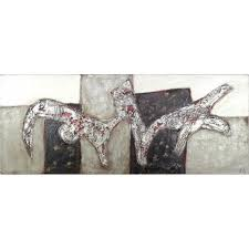 Grey Textured Paint - white silver grey abstract textured painting 14 005 www