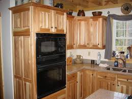 White Kitchen Cabinets Lowes Astounding Hickory Kitchenbinets Ideas With White Appliances For