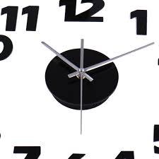 aliexpress com buy diy black digital wall clock large wall