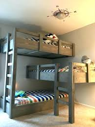 Three Person Bunk Bed 3 Person Bunk Bed Bemine Co