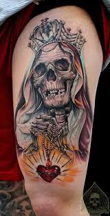 ink modification thigh skull skeleton