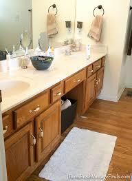 Repaint Bathroom Vanity by Bathroom Vanity Transformation With Diy Chalk Type Paint Farm