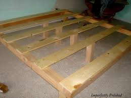 wood bed frame on platform bed frame with luxury make your own bed
