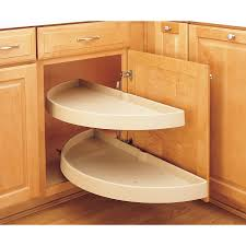 Kitchen Cabinet Blind Corner Solutions by Furniture Pull Out Corner Cabinet Lazy Susan With 2 Tier For