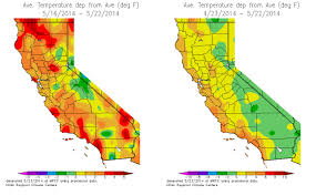 Map Southern California Temperature Map California California Map