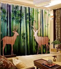 modern font curtain for living room new thickness bamboo