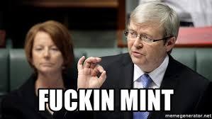Kevin Rudd Memes - fuckin mint fucking mint kevin rudd meme generator