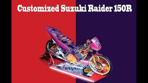 thai design customized suzuki raider 150r thai design inspired youtube
