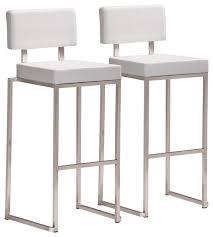 Modern White Bar Stool Modern Bar Chairs Modern White Bar Stool Bar Stool Set Of 2