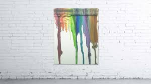 How To Get Crayon Off Walls by Sold Wfaa U0027s Melted Crayon Masterpiece Will Go To A New Home