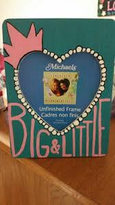 sorority picture frame bids and bigs sorority craft ideas
