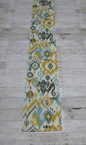 Yellow And Gray Outdoor Rug Turquoise Mustard Yellow And Graphite On Ivory Ikat Table Runner