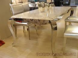 marble and stainless steel dining table s foot stainless steel marble dining table modern classic furniture