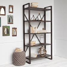 Industrial Shelving Units by Menthalla Ii Shelving Large Wood Shelving Unit With Black Metal
