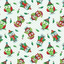 christmas fabric with owls patchwork u0026 quilting specialists