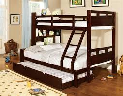 palmer bookcase dark walnut twin full bunk bed just bunk beds