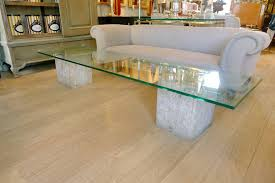 large glass coffee table travertine marble and glass coffee table by luigi moretti c 1965 in