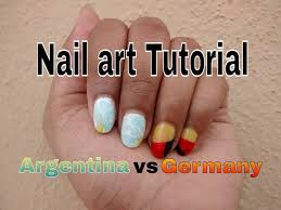 tutorial nail art fire effect using paint brush very easy