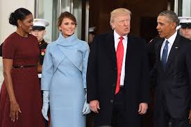 presidential inauguration obamas welcome trumps to the white house