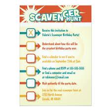 scavenger hunt invitation zazzle com