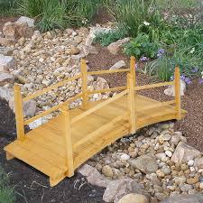 Decorative Pond Amazon Com Best Choice Products Wooden Bridge 5 U0027 Natural Finish