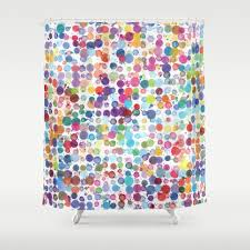 abstract graphic design and painting shower curtains society6