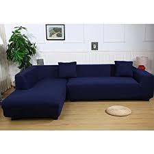 amazon com universal sofa covers for l shape 2pcs polyester