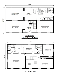 Floor Plans For 2 Story Homes by Two Story Floor Plans Kintner Modular Homes