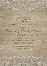 60th anniversary invitations wedding anniversary invitations archives superdazzle custom