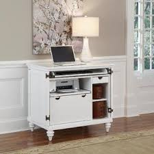 White Compact Computer Desk Home Styles Brushed White Bermuda Compact Computer Cabinet Home